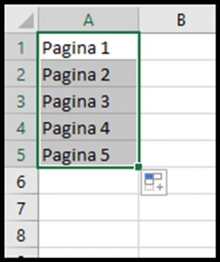 Serie con altro testo contenente numeri