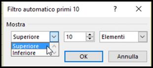 Filtro automatico Primi 10
