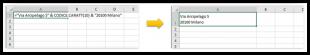 Andare a capo in una cella di Excel usando una formula