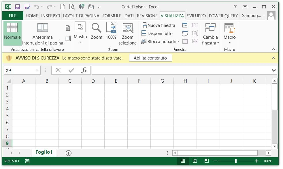 Configurare Excel per consentire le macro 24