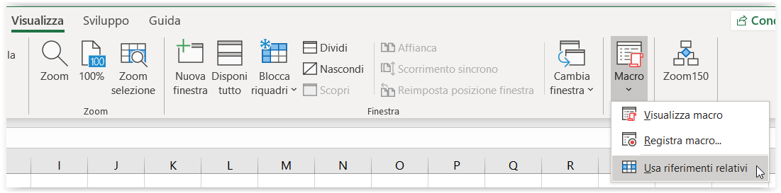 Registrare una macro in Excel 4